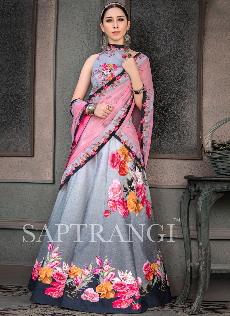 Fancy Fabric Lehenga Choli in Multi Colour