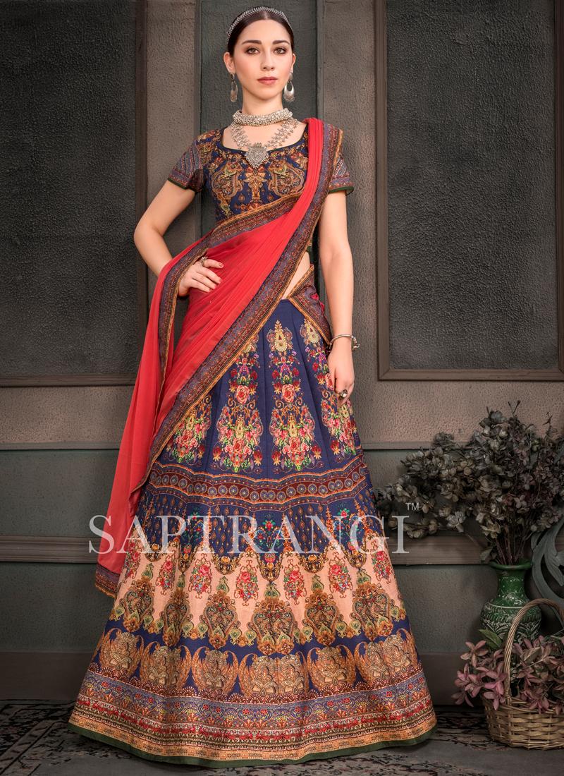 Fancy Fabric Multi Colour Lehenga Choli