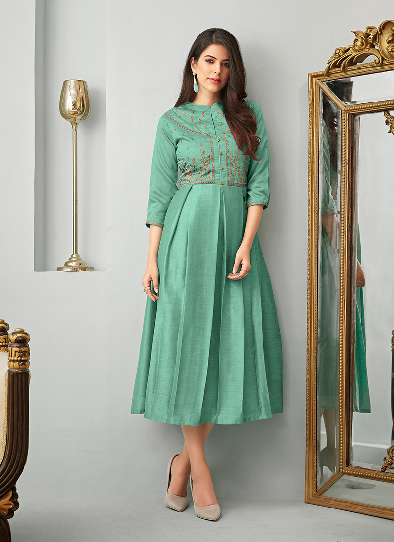Fine Embroidered Party Wear Kurti