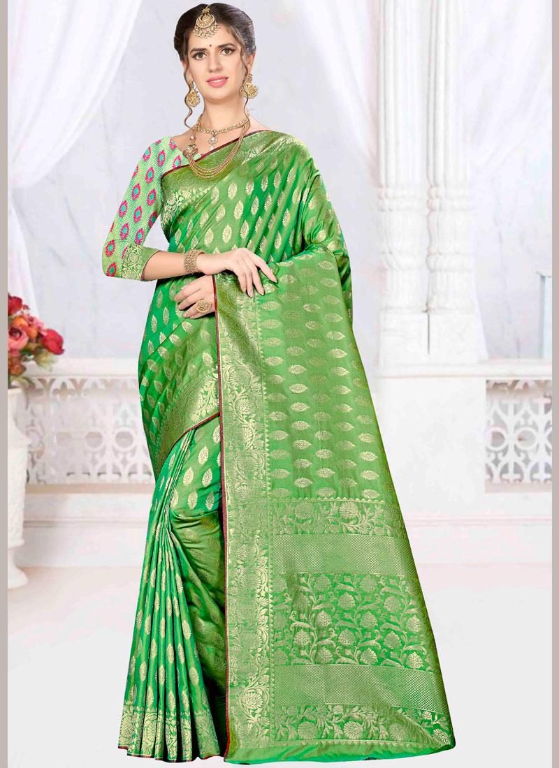 Genius Banarasi Silk Designer Saree