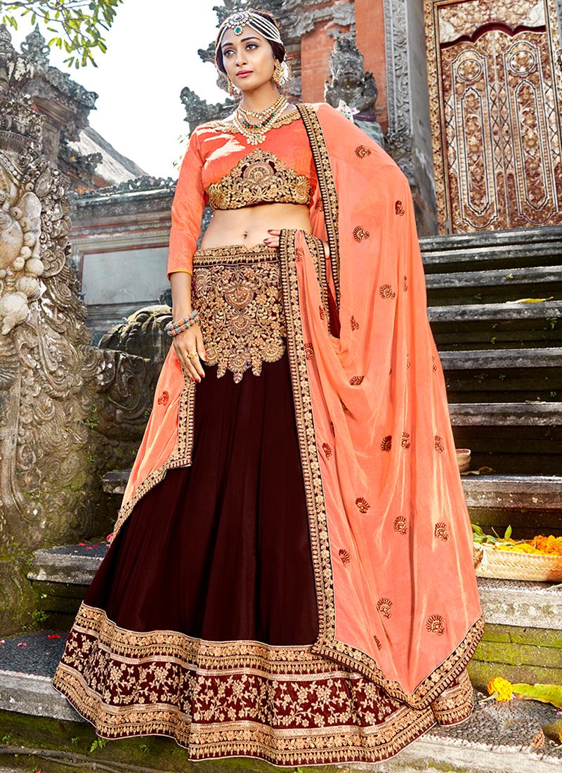 Gorgonize Embroidered Art Silk Designer Lehenga Choli