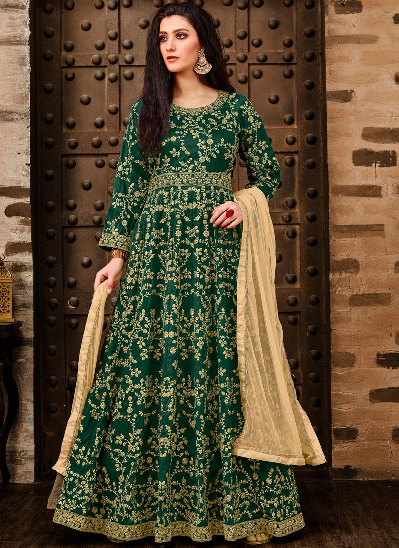 Green Color Anarkali Salwar Kameez