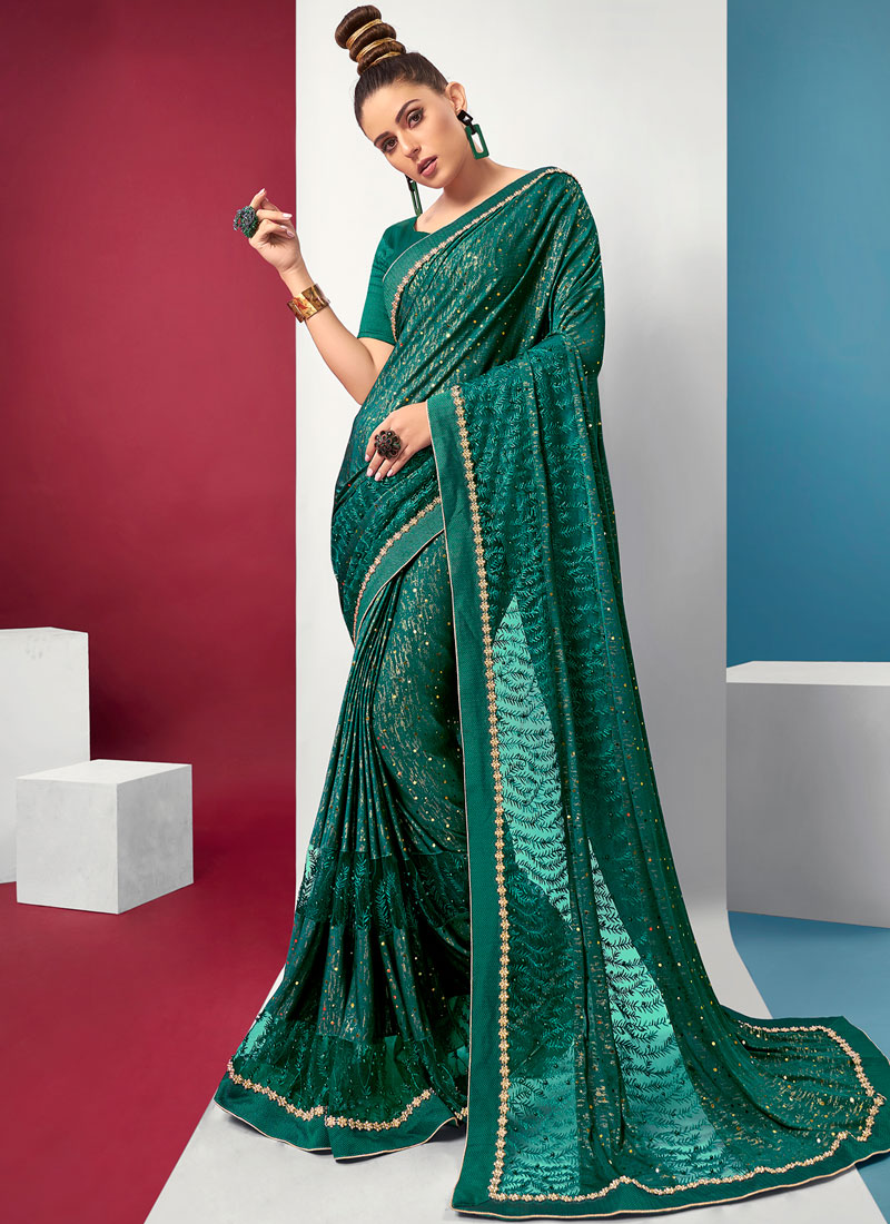 Green Color Saree