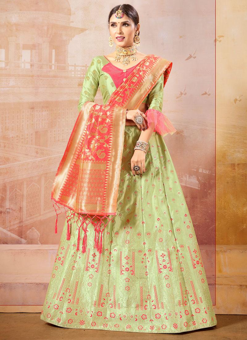 ca9360e04f Green Color Trendy Lehenga Choli. Hover to zoom