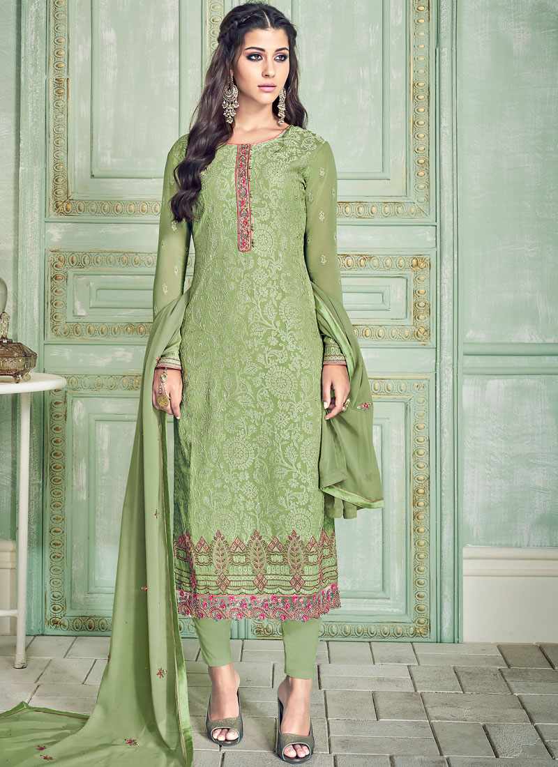 Green Festival Pant Style Suit