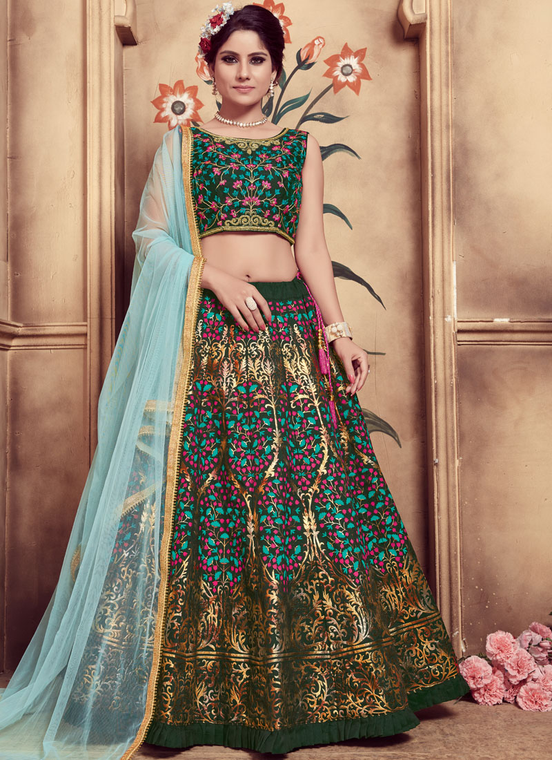 079b57031f Green Sangeet Trendy Lehenga Choli. Hover to zoom