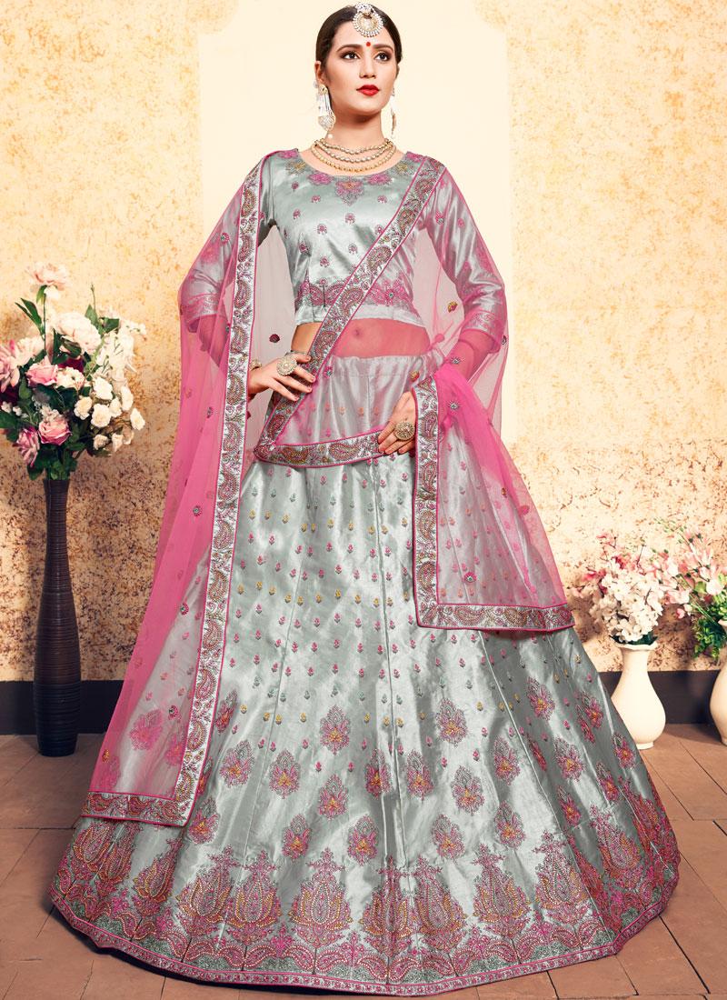 Grey Stone Wedding Trendy Lehenga Choli