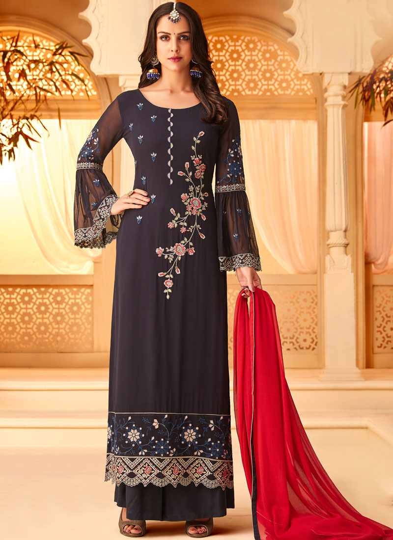 dd0a6a152c Honourable Embroidered Mehndi Designer Straight Salwar Suit. Hover to zoom