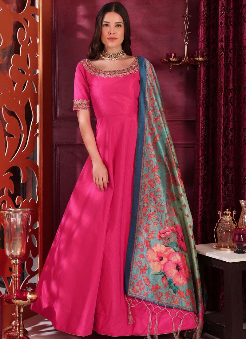Hot Pink Festival Designer Gown