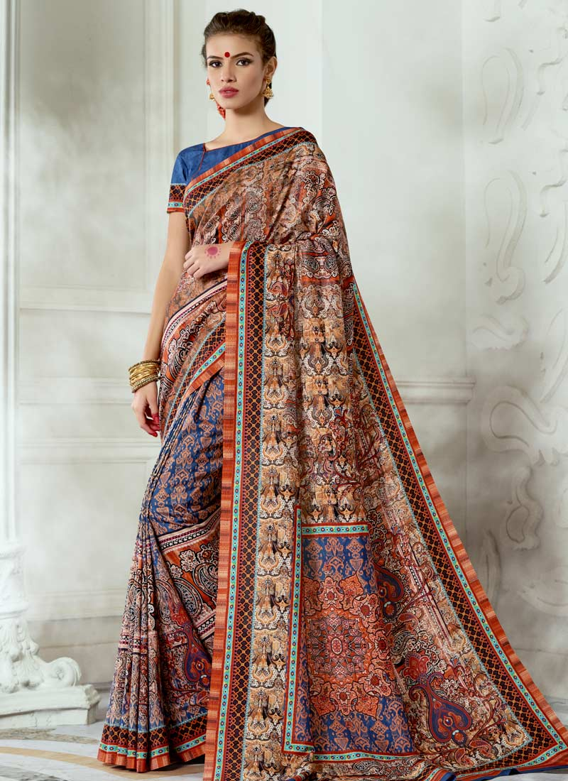 Hypnotic Tussar Silk Multi Colour Digital Print Casual Saree
