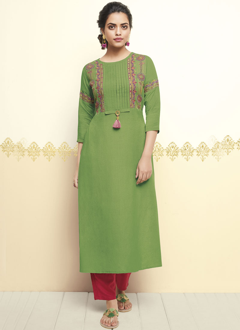 Ideal Thread Work Party Party Wear Kurti