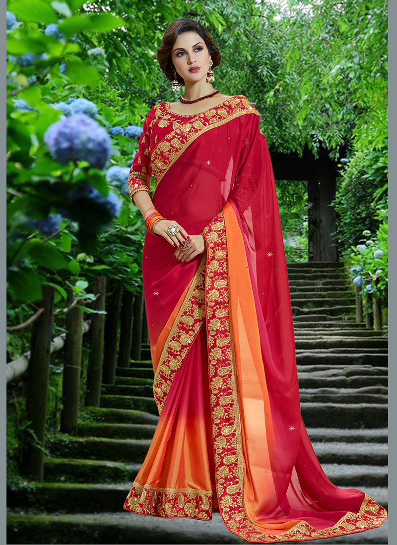 Immaculate Embroidered Designer Saree
