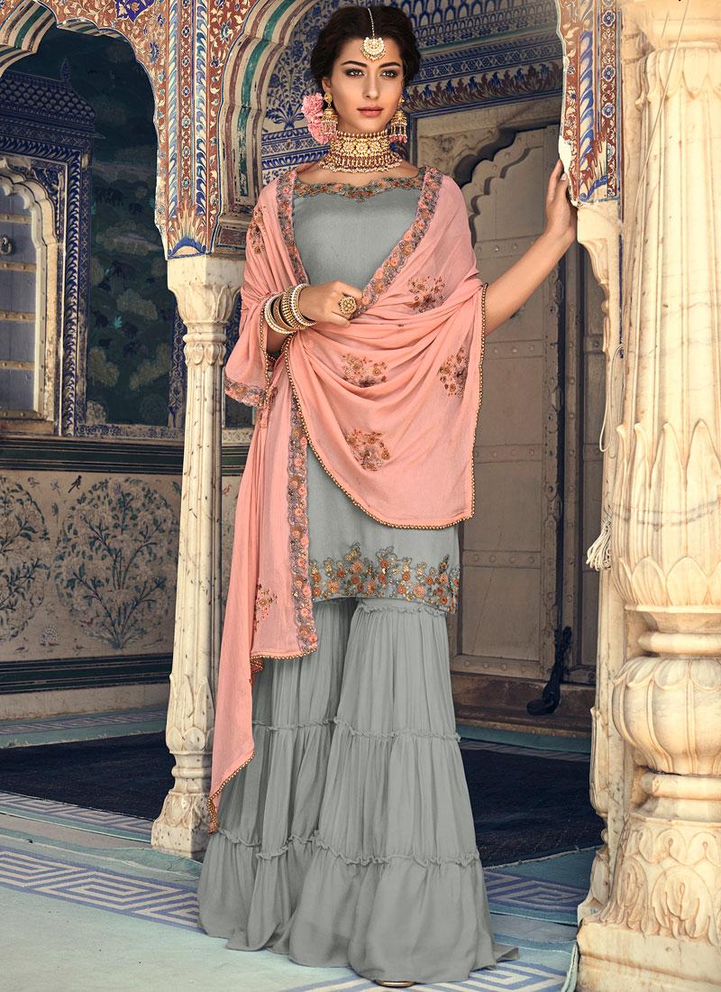 Imperial Georgette Palazzo Designer Salwar Suit