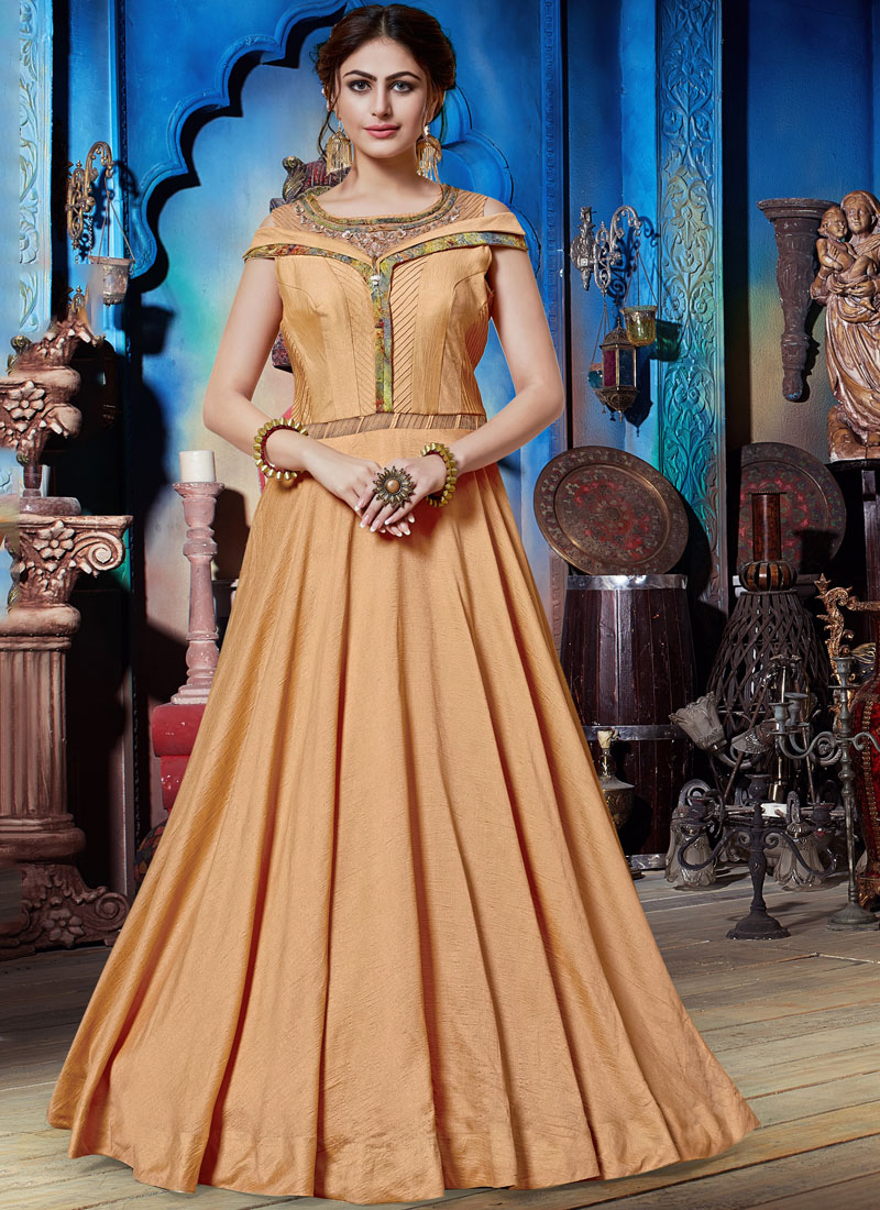 Innovative Art Silk Designer Gown