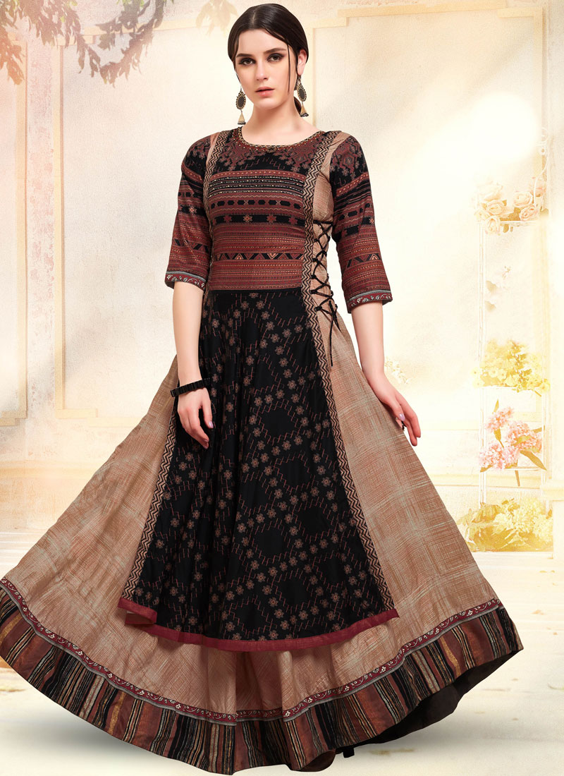 Invigorating Embroidered Festival Designer Gown