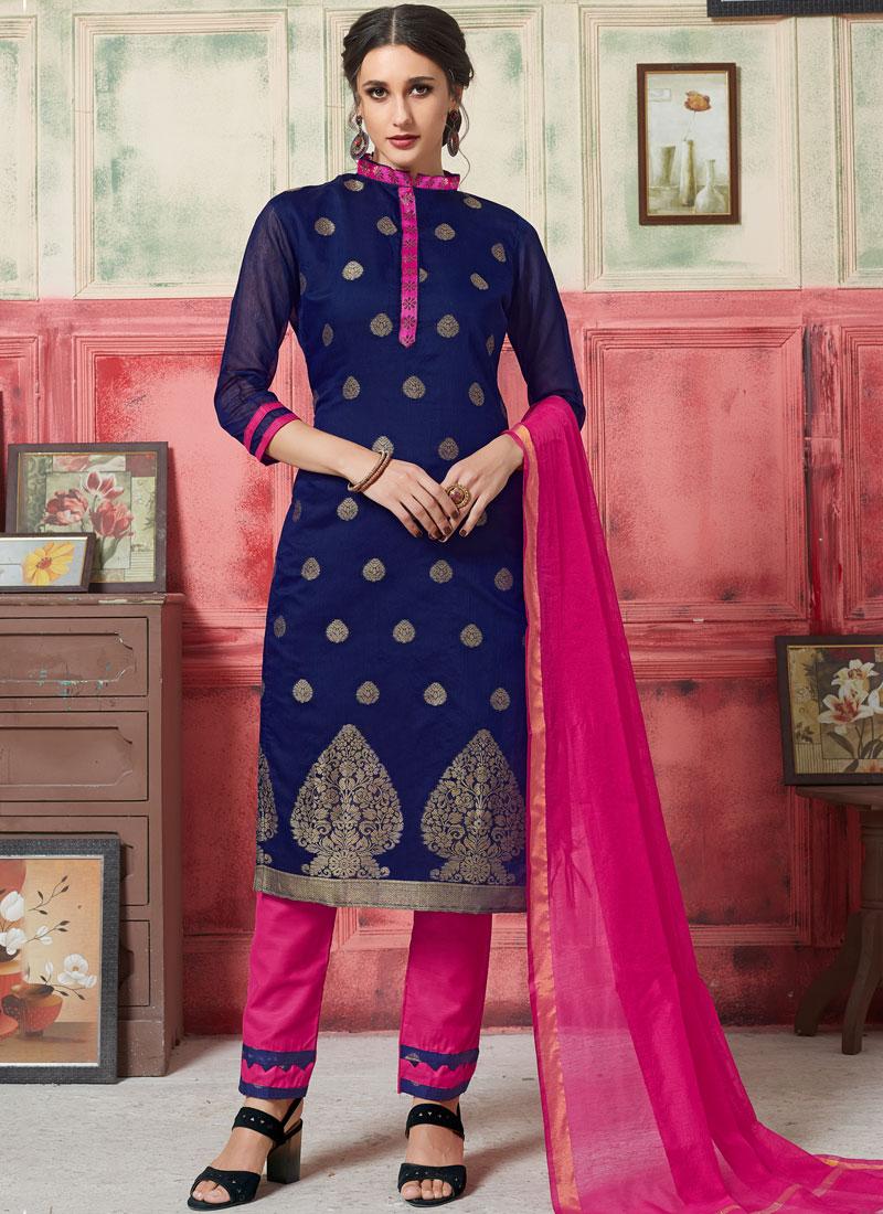 Invigorating Weaving Jacquard Silk Designer Suit
