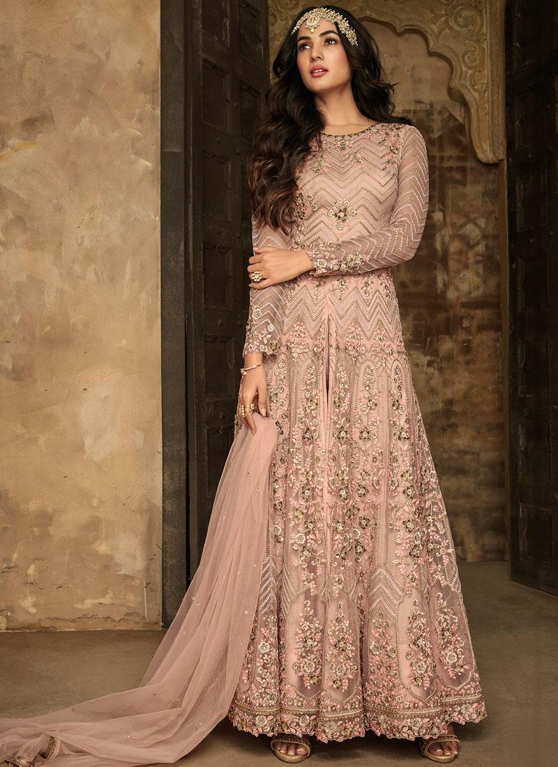 Irresistible Pink Embroidered Anarkali Salwar Kameez