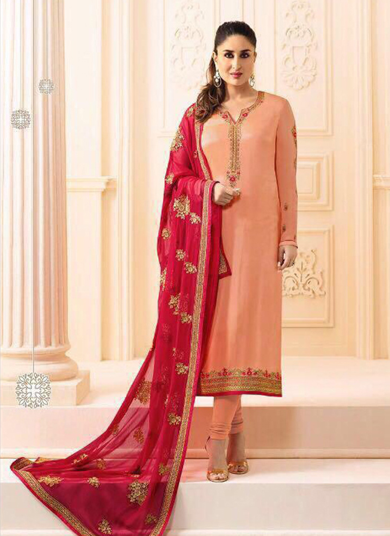 Kareena Kapoor Churidar Designer Suit For Ceremonial