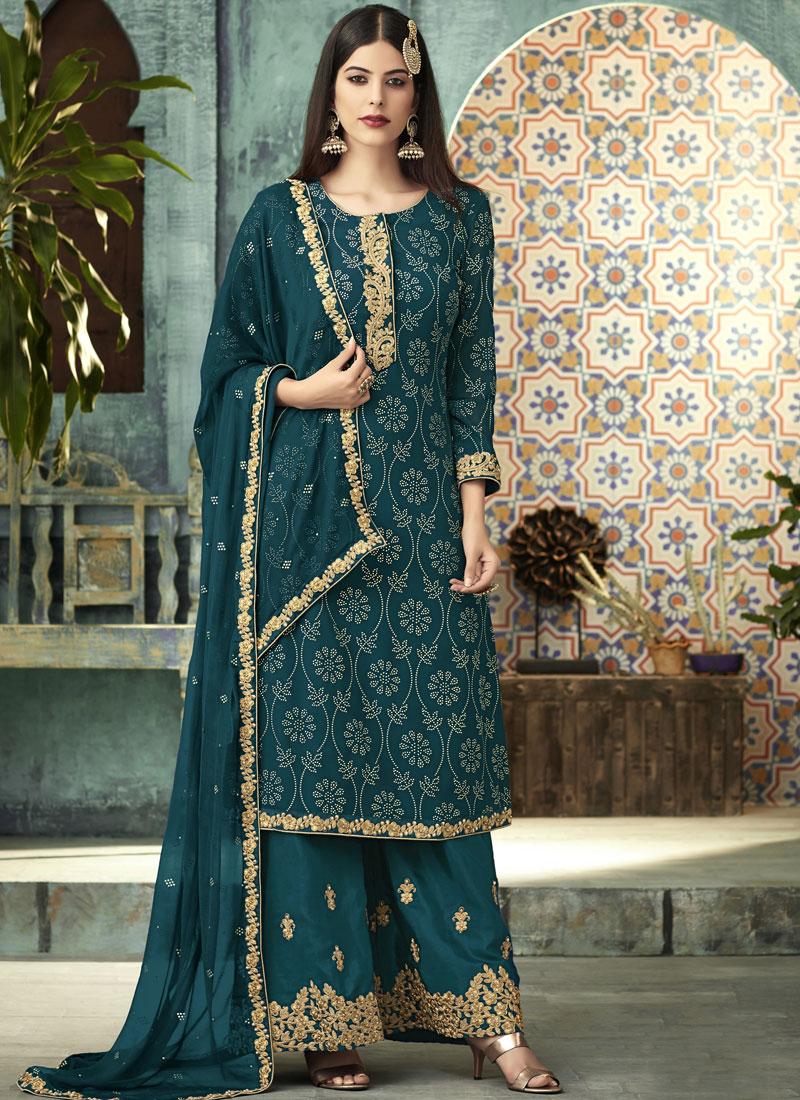 Lovable Designer Palazzo Salwar Suit For Mehndi