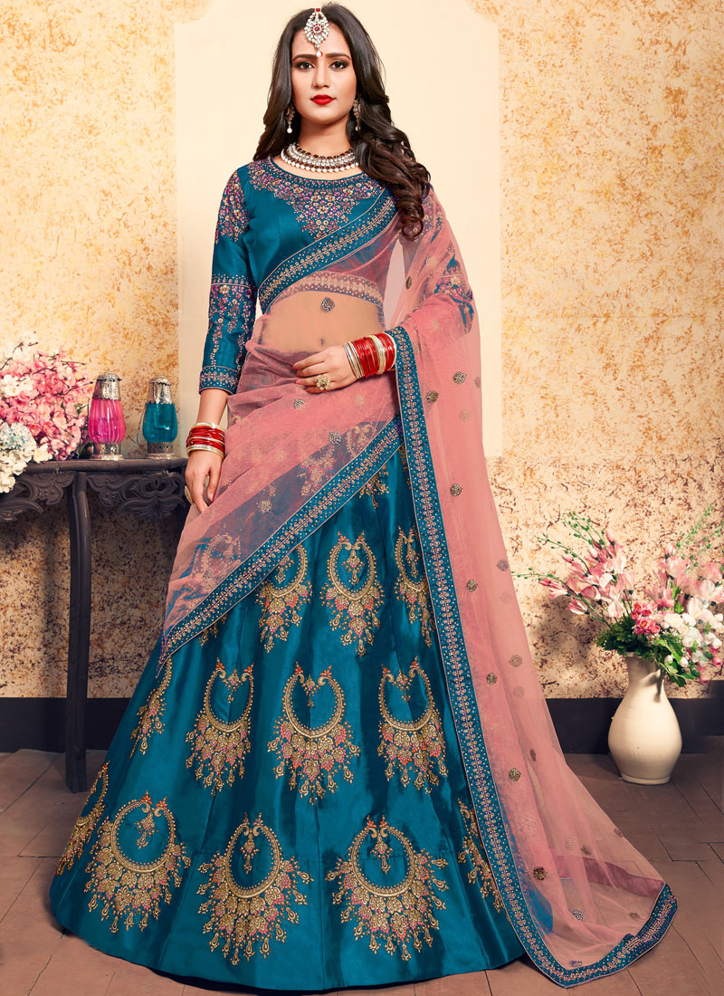 Magnetize Blue Thread Trendy Lehenga Choli
