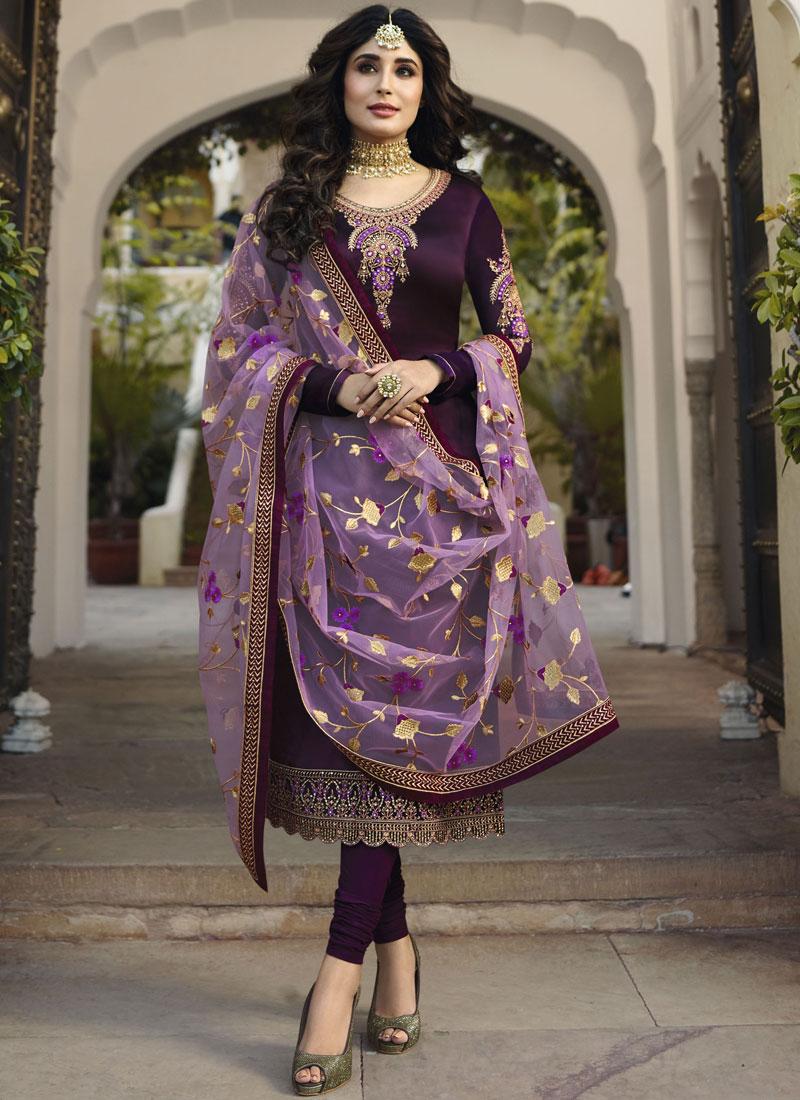Majestic Embroidered Wedding Churidar Salwar Suit