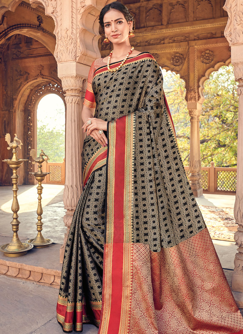 Majestic Woven Art Silk Designer Traditional Saree