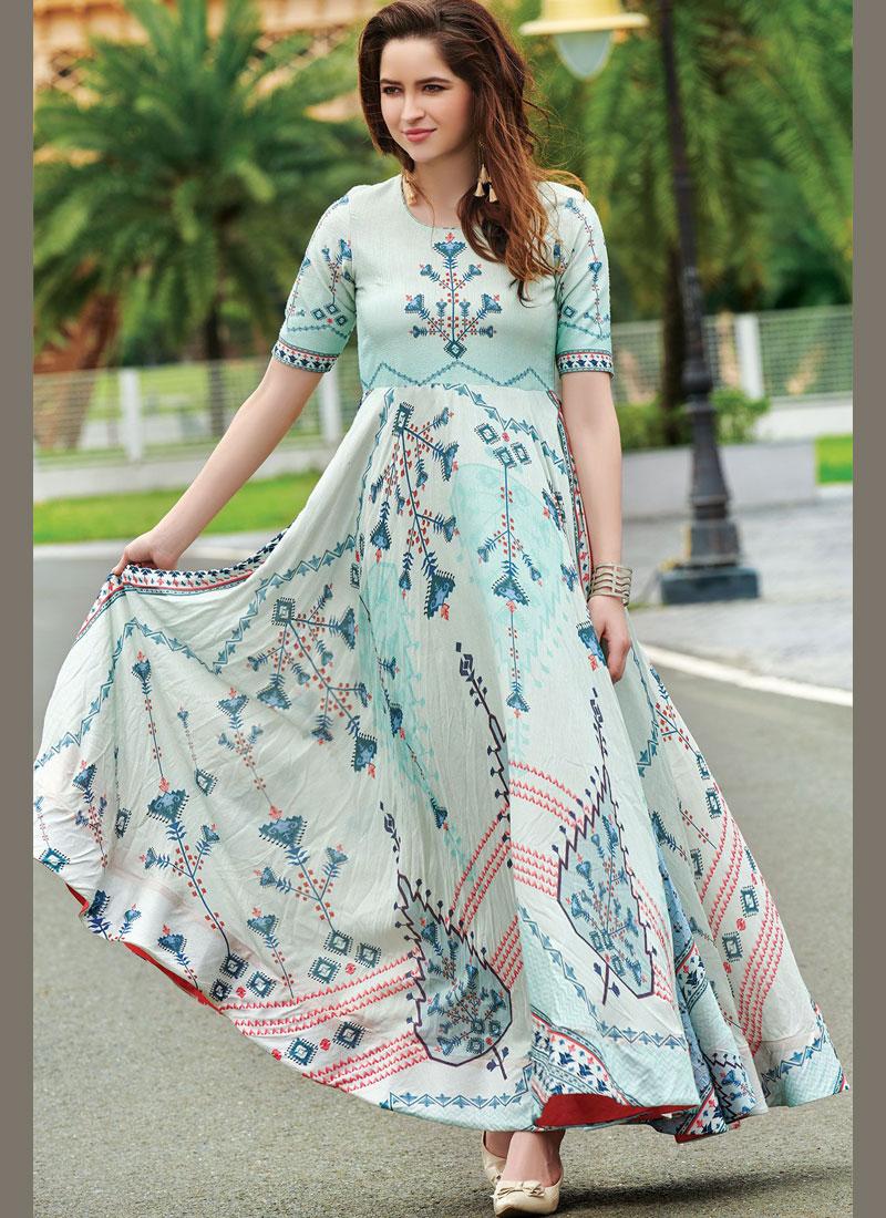 Masterly Cotton   Digital Print Trendy Gown