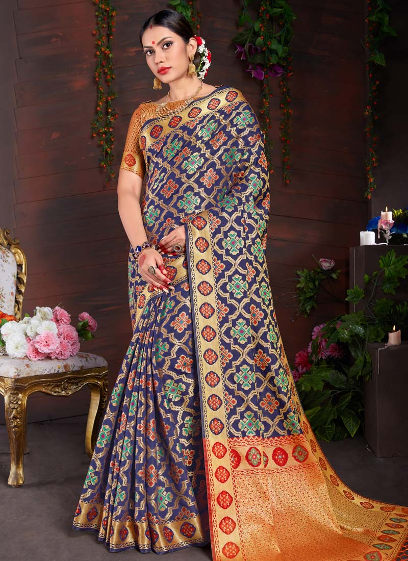 8ff37c80e8 Miraculous Art Silk Ceremonial Designer Traditional Saree. Hover to zoom