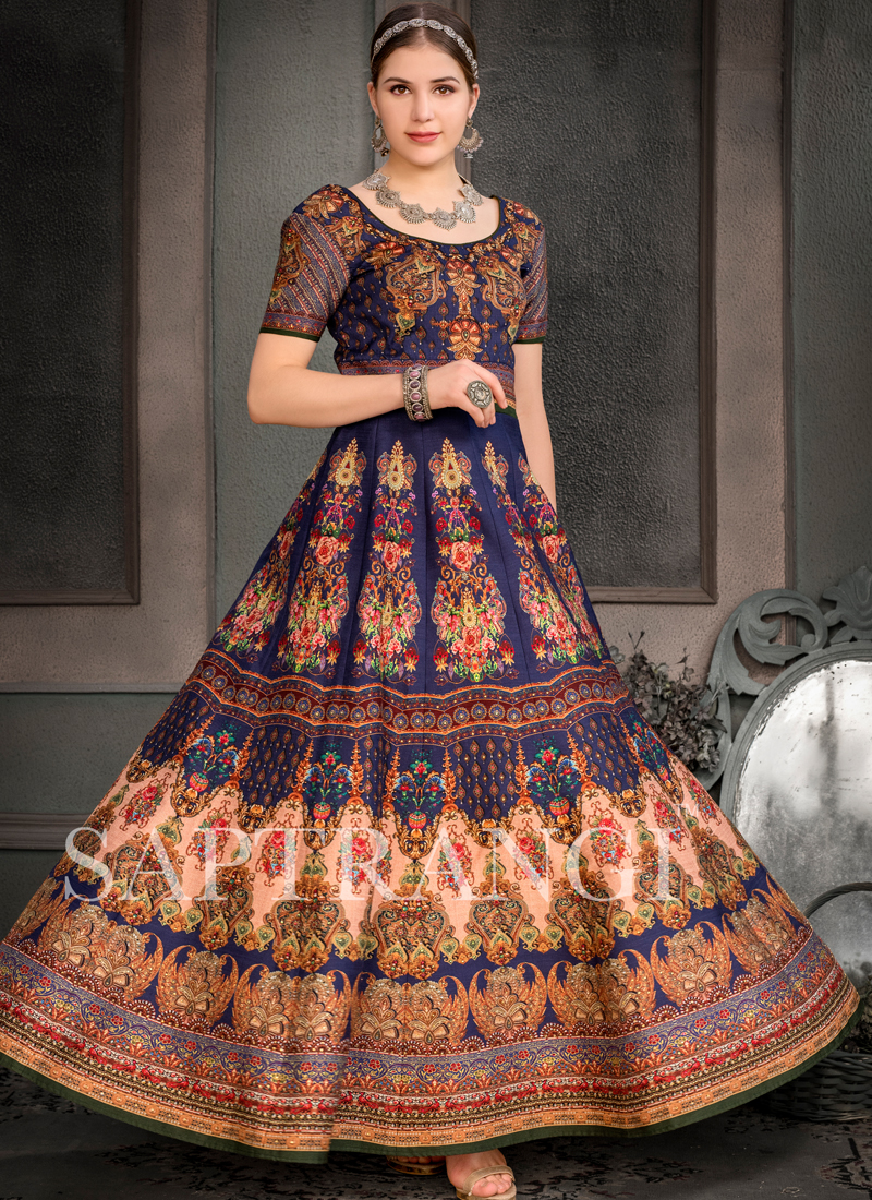 Mod Multi Colour Fancy Fabric Designer Gown
