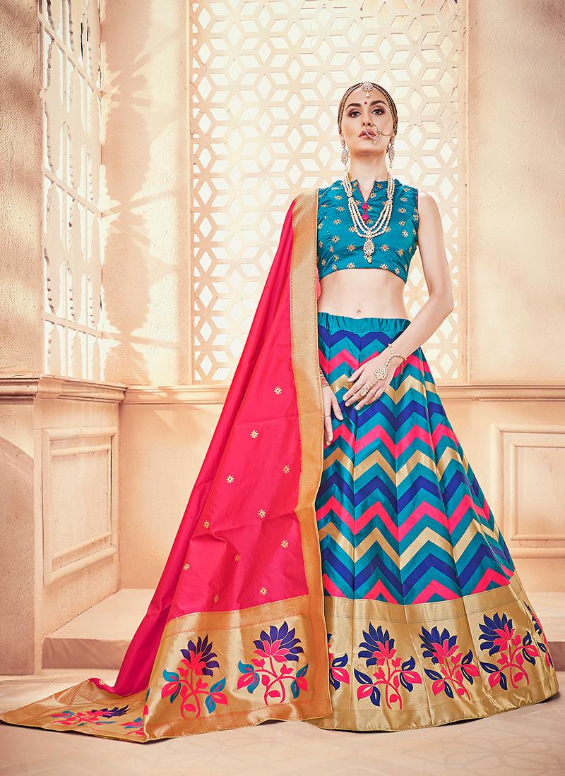 239e669115 Modest Weaving Designer Lehenga Choli. Hover to zoom