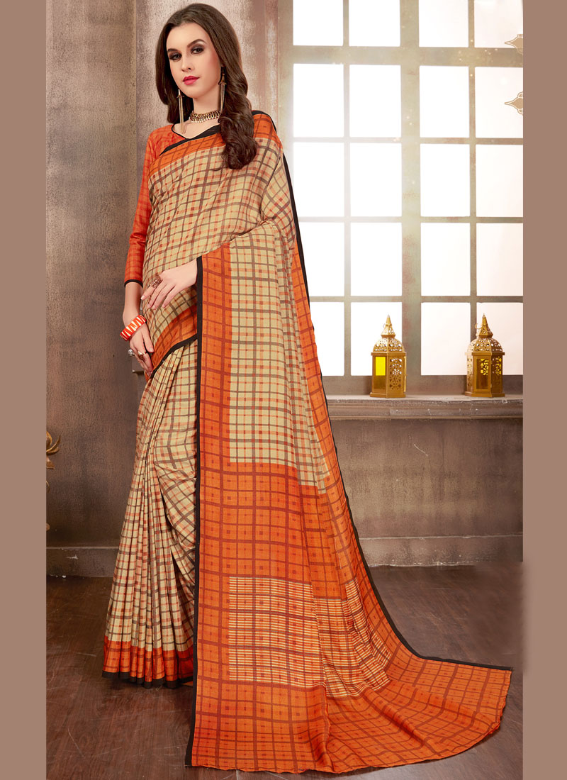 f17c664fab Multi Colour Abstract Print Casual Printed Saree