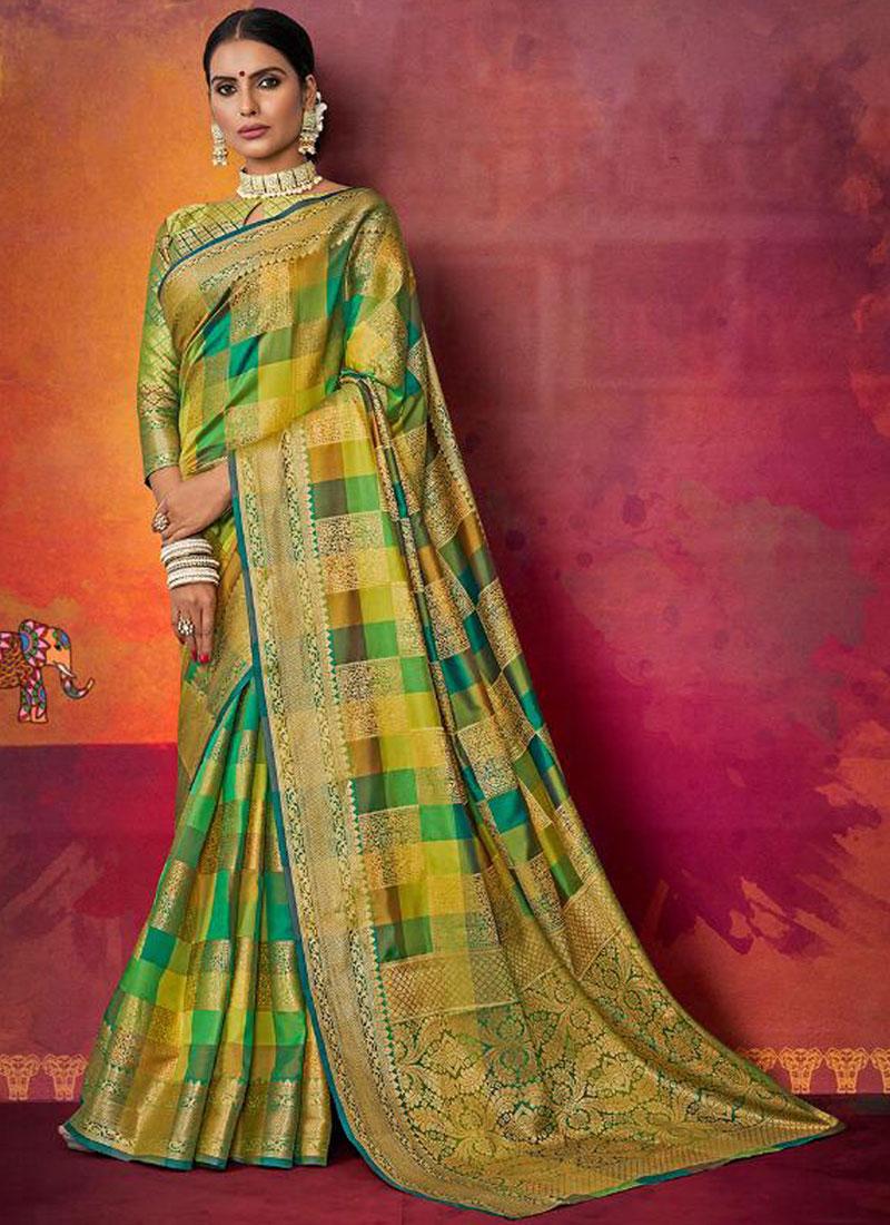 02c9c1b19b Multi Colour Art Silk Traditional Saree. Hover to zoom