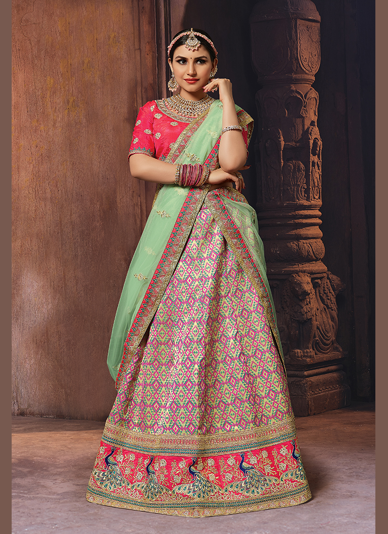 Multi Colour Sangeet Banglori Silk Designer Lehenga Choli