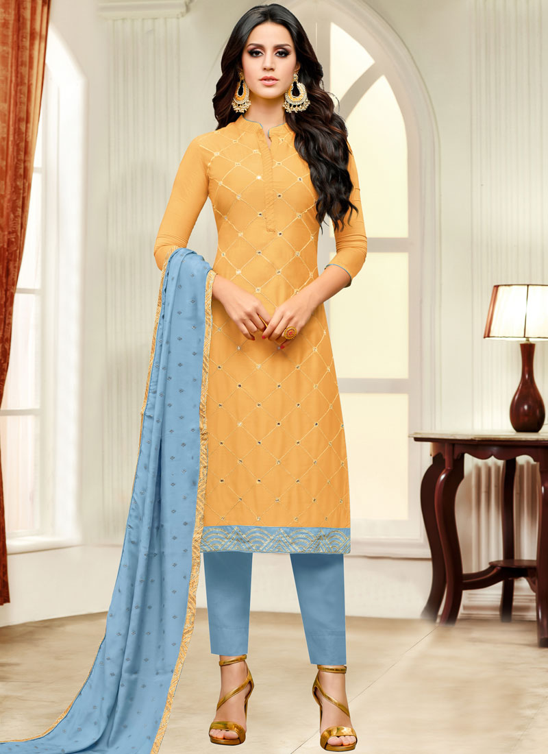 Mustard Casual Fancy Fabric Pant Style Suit