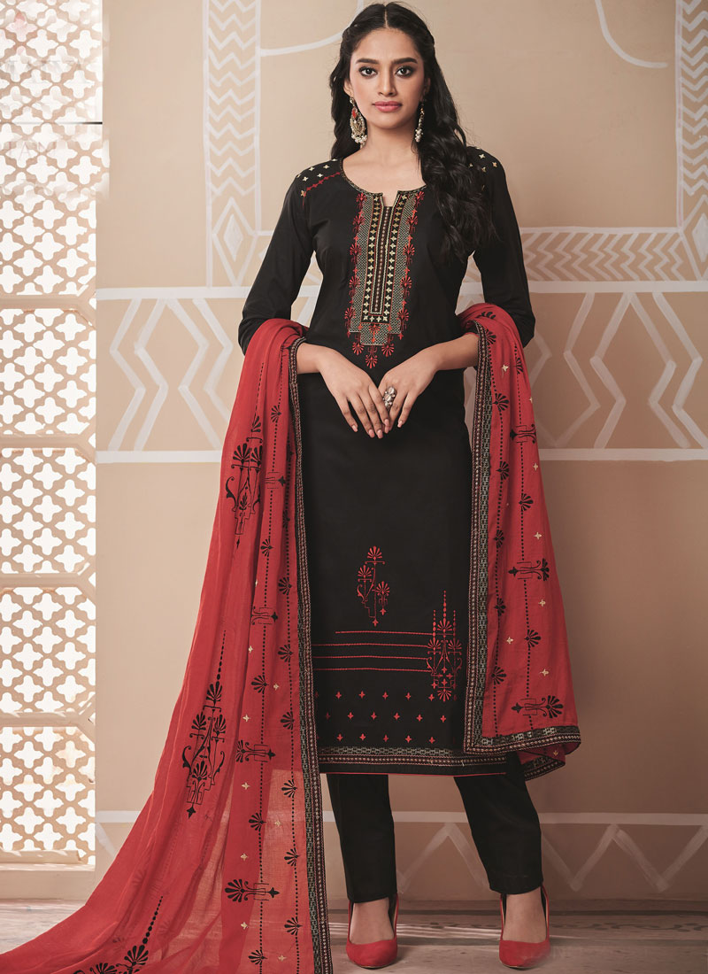Orphic Cotton Embroidered Salwar Kameez