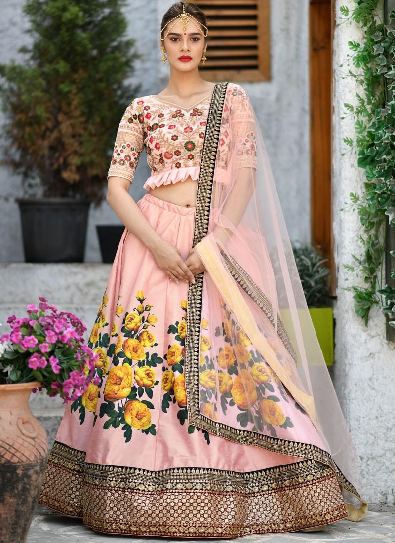 Peach Sangeet Designer Lehenga Choli