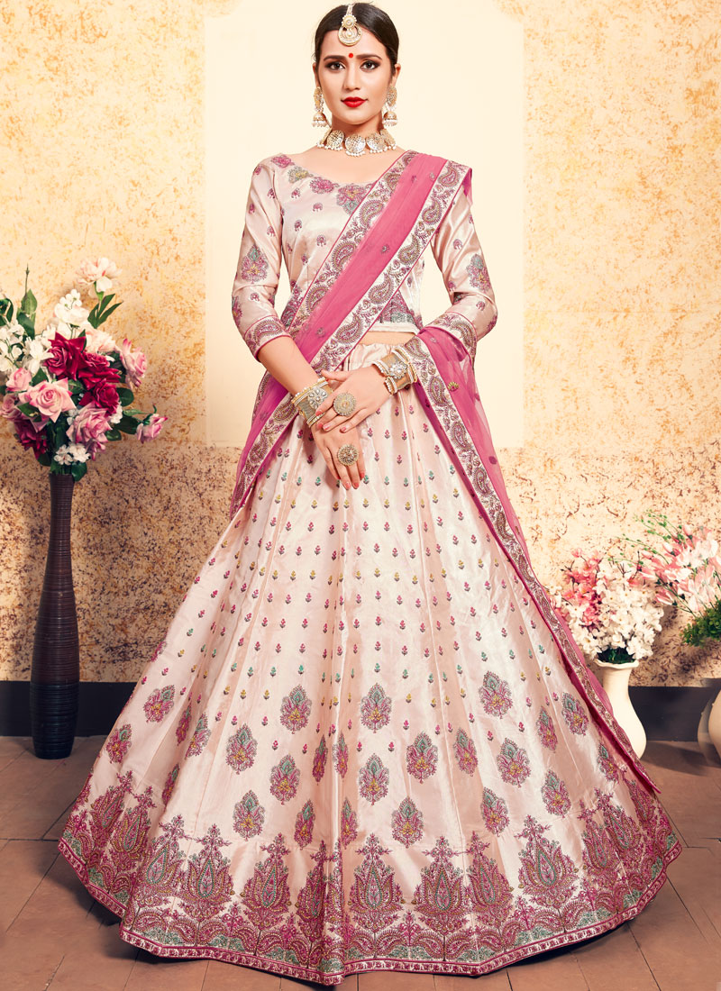 Peach Thread Trendy Lehenga Choli