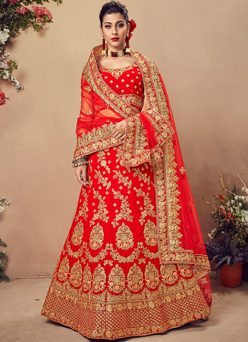 Perfect Embroidered Velvet Designer Lehenga Choli