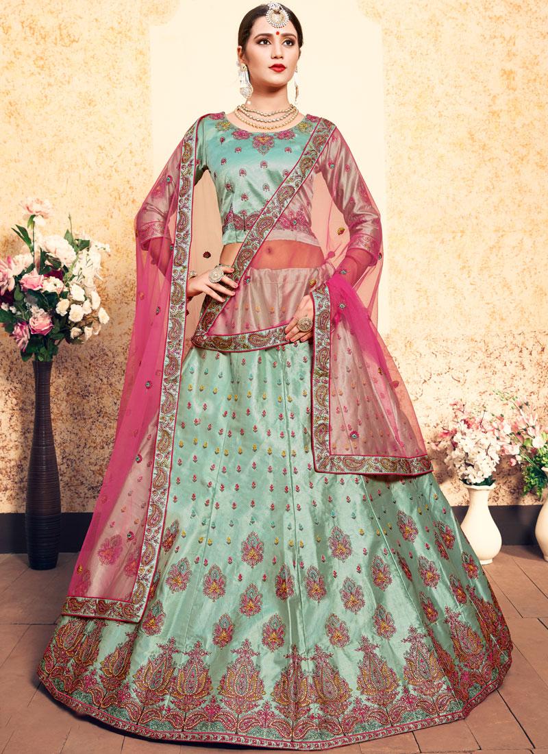 Phenomenal Sea Green Wedding Trendy Lehenga Choli