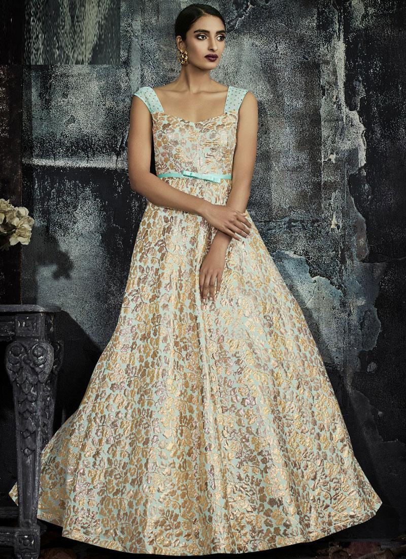 Picturesque Print Designer Gown