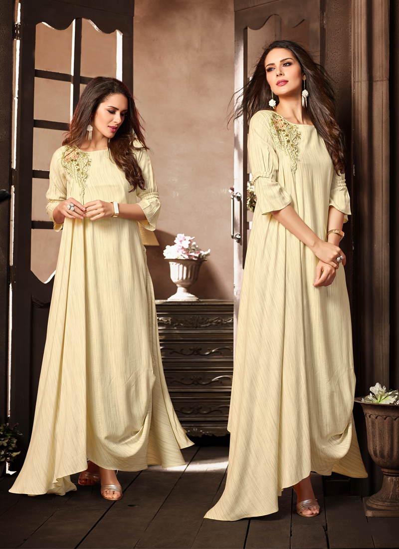 Picturesque Rayon Party Wear Kurti