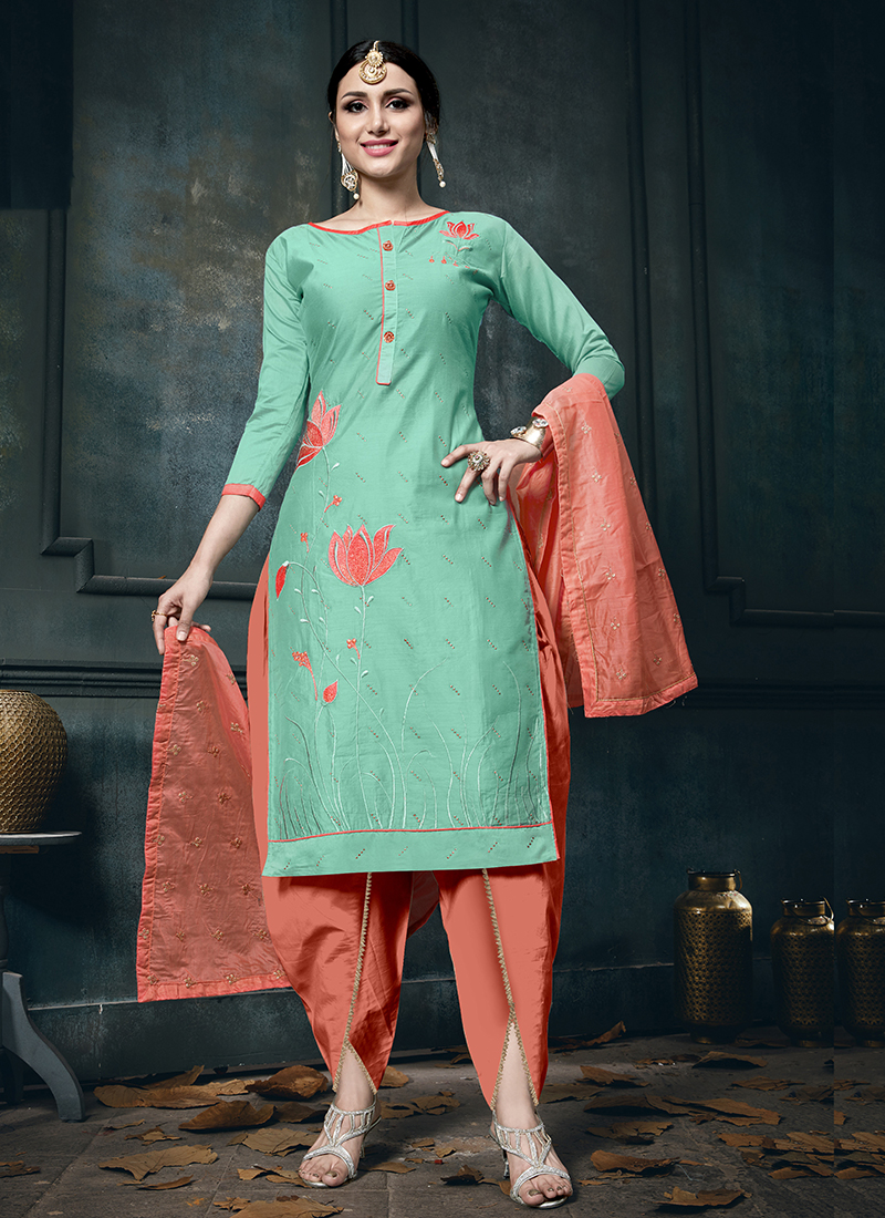 Precious Sea Green Festival Designer Suit