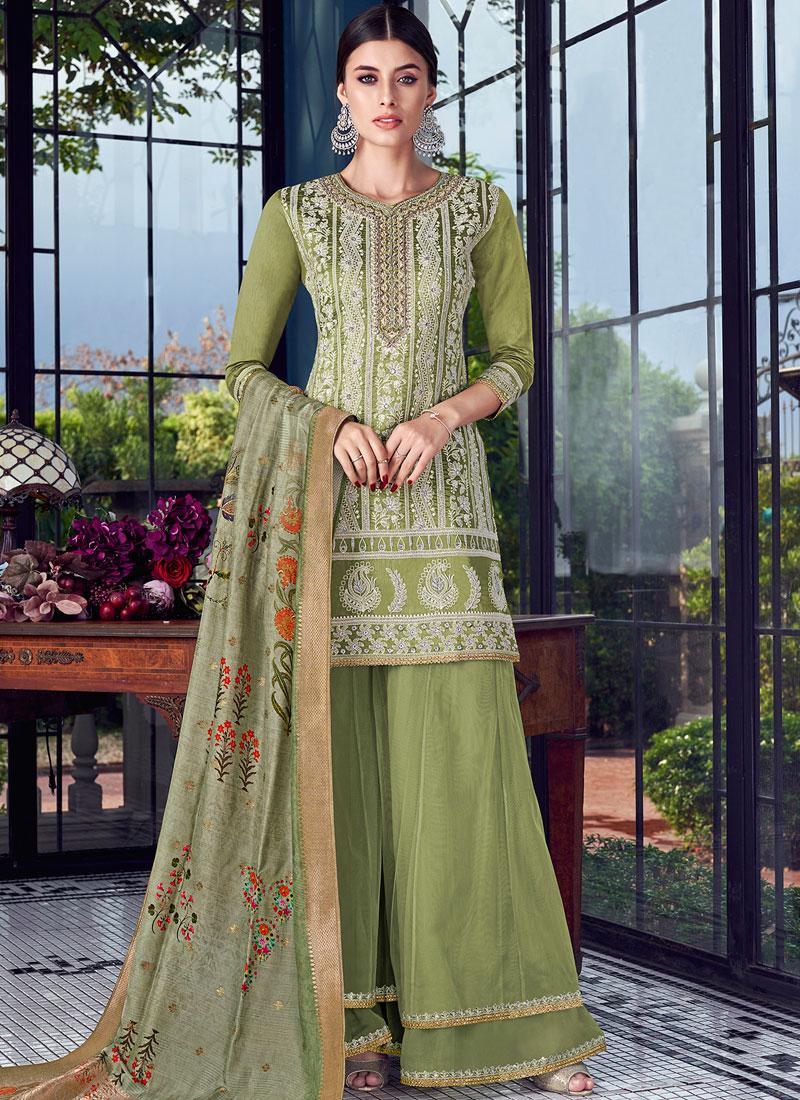 Preferable Chanderi Festival Designer Pakistani Suit