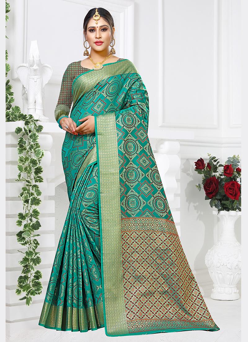 Preferable Sea Green Casual Traditional Saree