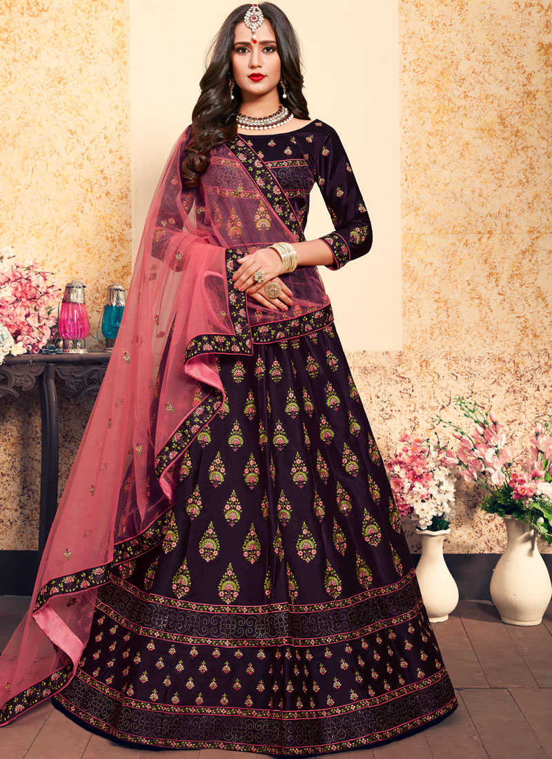 Princely Satin Thread Designer Lehenga Choli