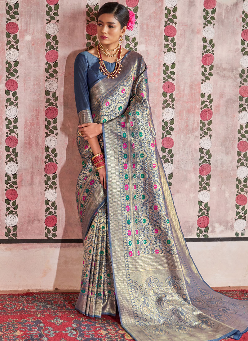 Princely Weaving Traditional Saree