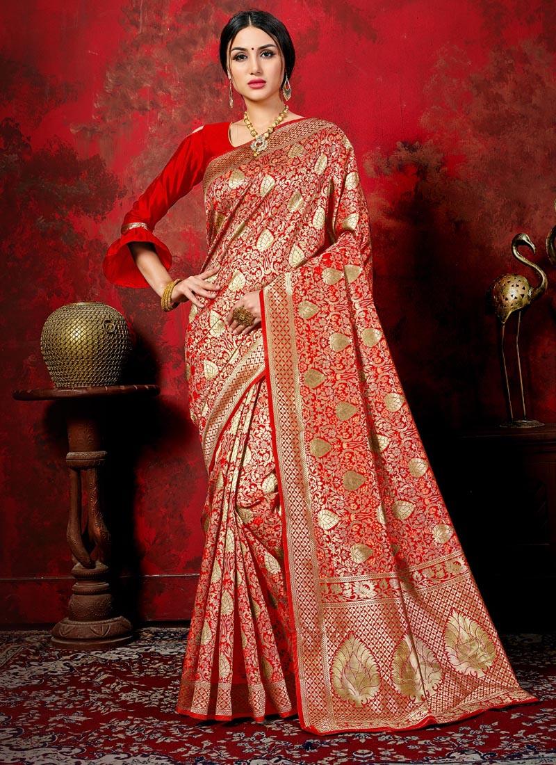 Pristine Banarasi Silk Woven Classic Saree