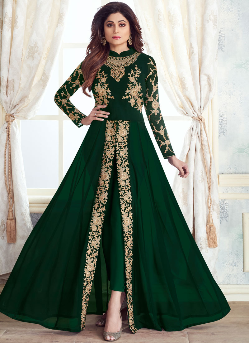 Prodigious Embroidered Anarkali Salwar Kameez
