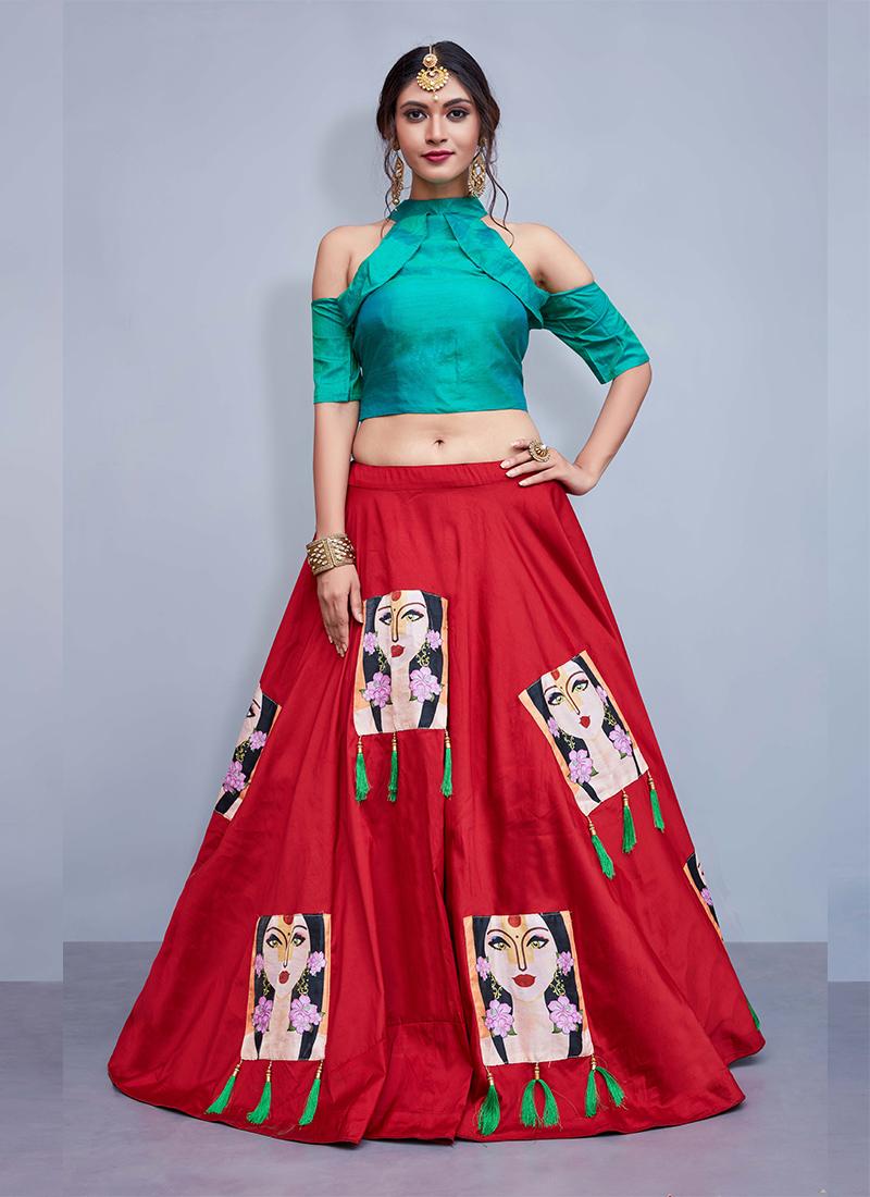 Prodigious Tafeta Silk Readymade Lehenga Choli
