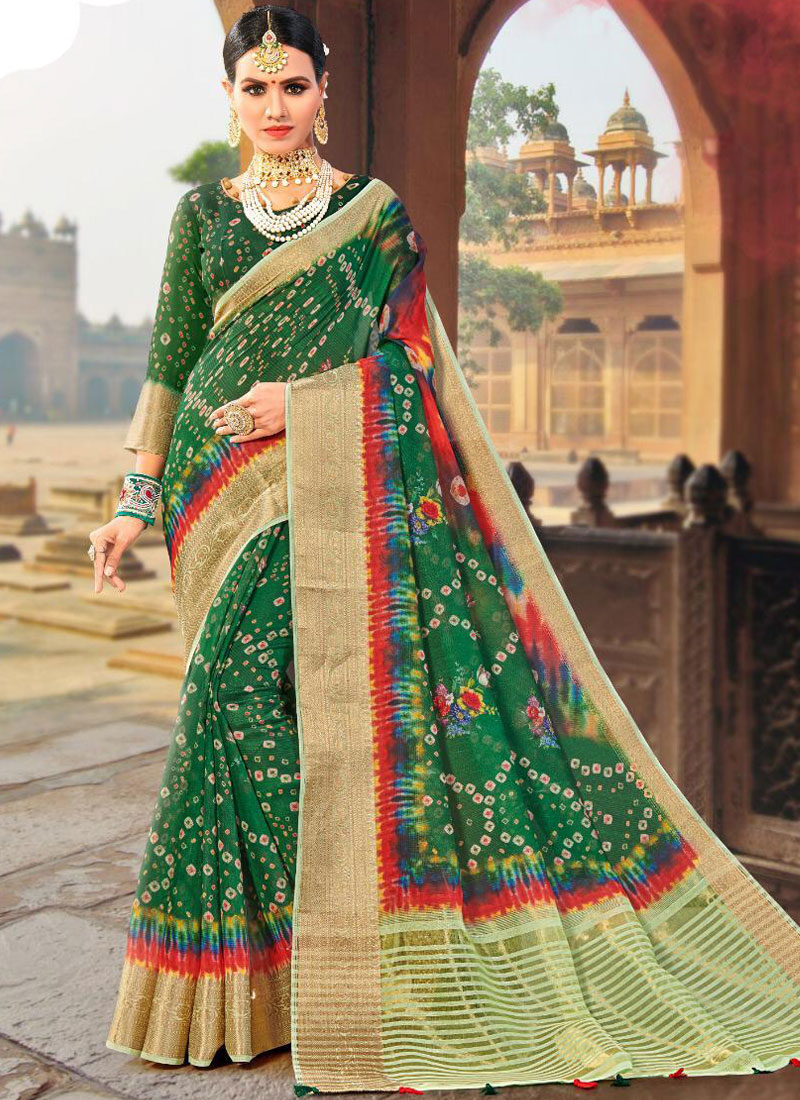 Ravishing Green Fancy Fabric Traditional Designer Saree